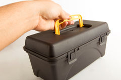 Man hold Tool box Royalty Free Stock Photos