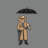 Man hold umbrella and spare one Royalty Free Stock Photos