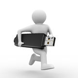 Man hold usb flash Stock Photography