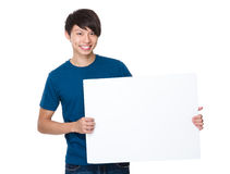 Man hold with white board Royalty Free Stock Images