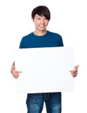 Man hold with white board Royalty Free Stock Photos