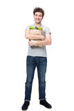 Man holding a bag full of groceries Royalty Free Stock Photo