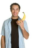 Man Holding Banana Stock Photography