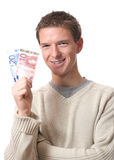 Man holding banknotes Stock Photos
