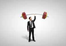 Man holding barbell Royalty Free Stock Image