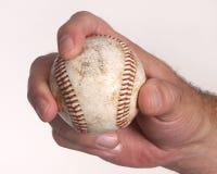 Man holding baseball Stock Photos