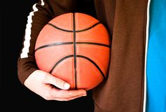 Man holding Basketball Royalty Free Stock Photography