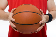 Man holding basketball stock images