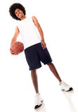 Man holding a basketball ball Royalty Free Stock Image