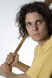 Man Holding Bat - Vertical Stock Photography