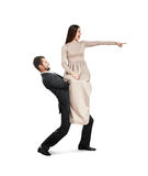 Man holding beautiful yelling woman Royalty Free Stock Photos