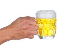 Man Holding Beer Mug royalty free stock image