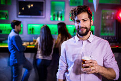 Man holding a beer mug Royalty Free Stock Image