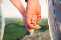 Man Holding Beloved Hand Royalty Free Stock Photo