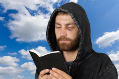 Man Holding a Bible Royalty Free Stock Photo