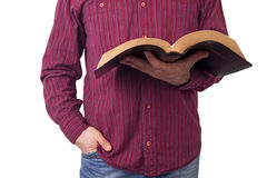 Man Holding a Bible Royalty Free Stock Photography