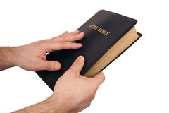Man Holding a Bible Royalty Free Stock Images