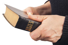 Man Holding a Bible Stock Photos