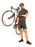 Man holding bicycle Royalty Free Stock Photos