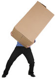 Man holding big cardboard box Royalty Free Stock Photo