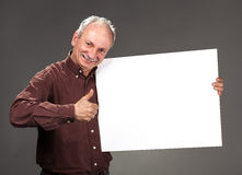 Man holding billboard Stock Photography