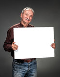 Man holding billboard Royalty Free Stock Photo