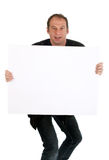 Man holding billboard Royalty Free Stock Images