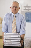 Man Holding Binders Royalty Free Stock Photos