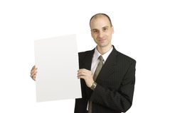 Man holding a blank Royalty Free Stock Images