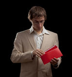 Man holding blank card Royalty Free Stock Photos