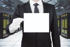 Man holding blank card Royalty Free Stock Photo