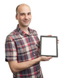 Man holding blank digital tablet Stock Photos