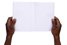 Man holding blank notebook Royalty Free Stock Photography