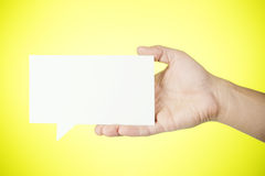 Man holding blank paper Royalty Free Stock Photography