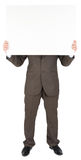 Man holding blank poster Stock Photography