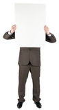 Man holding blank poster Royalty Free Stock Photos