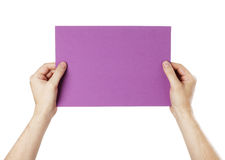 Purple Message Stock Image