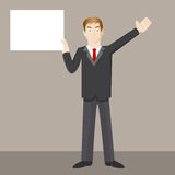 Man Holding Blank Sign Royalty Free Stock Photos