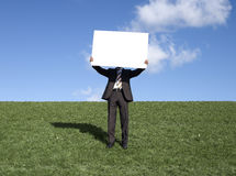 Man holding board Stock Images