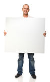 Man holding board Stock Photo