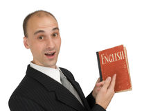 Man Holding a Book Stock Images