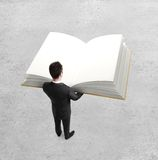 Man holding book Royalty Free Stock Image