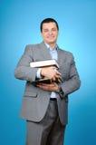 Man holding books Royalty Free Stock Photo