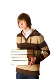 Man holding books Royalty Free Stock Photos