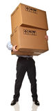 Man holding boxes Royalty Free Stock Photography
