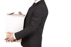 Man holding boxes Royalty Free Stock Photos