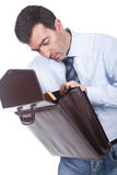 Man holding a briefcase Royalty Free Stock Photo