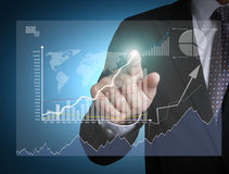 Man holding business Royalty Free Stock Image