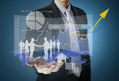 Man holding business Stock Photos