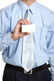 Man Holding Business Card Stock Image